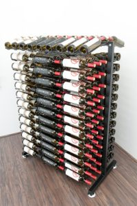 Metal Island Wine Display Rack