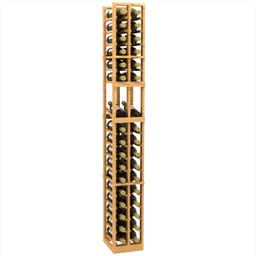 2 Column 6 Foot Precision Wood Wine Rack Blue Grouse
