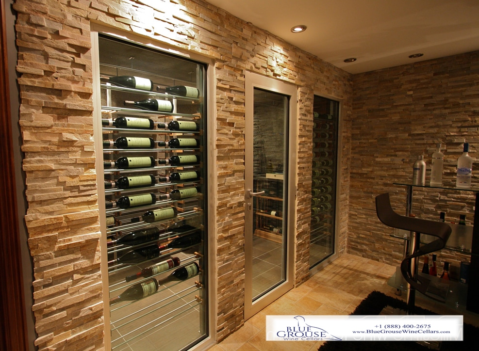 Wine Racks For Home: Floor To Ceiling Mounted Wine Display