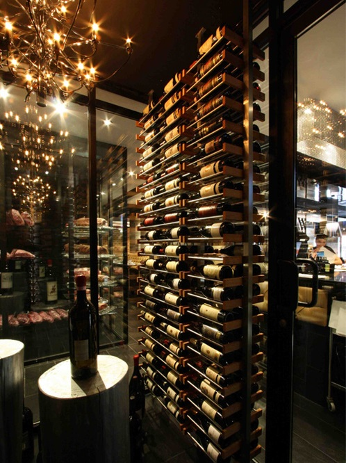 Millesime wine racks floor to ceiling mounted wine display - Types of beautiful wine racks for your home ...