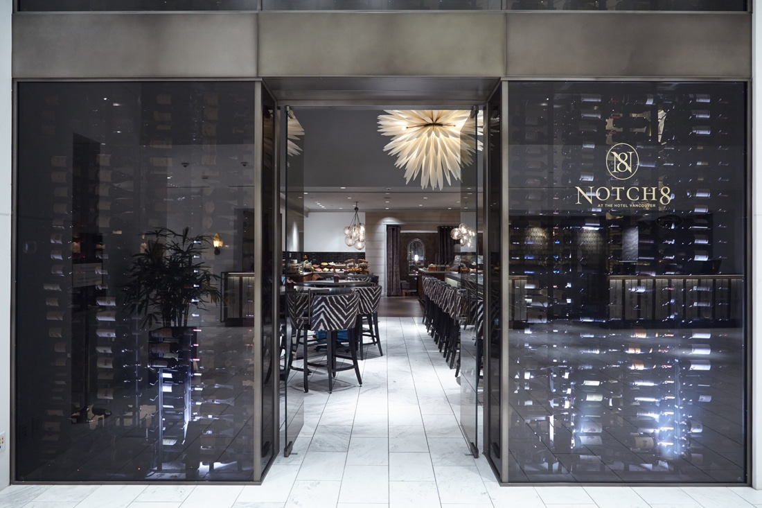 Fairmont Hotel Vancouver Commercial Custom Wine Cellar Wine Display Wall