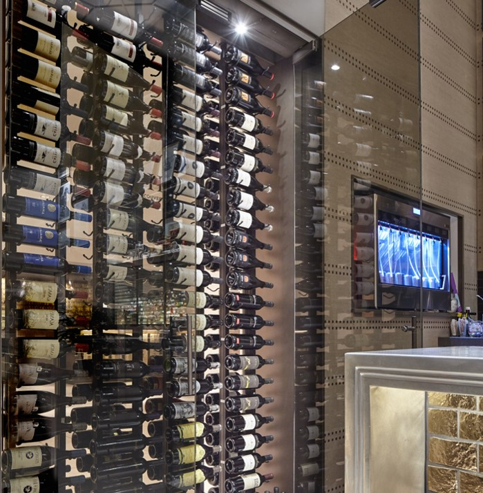 Fairmont Hotel Vancouver Wine Display Wall - Commercial Custom Wine Cellars