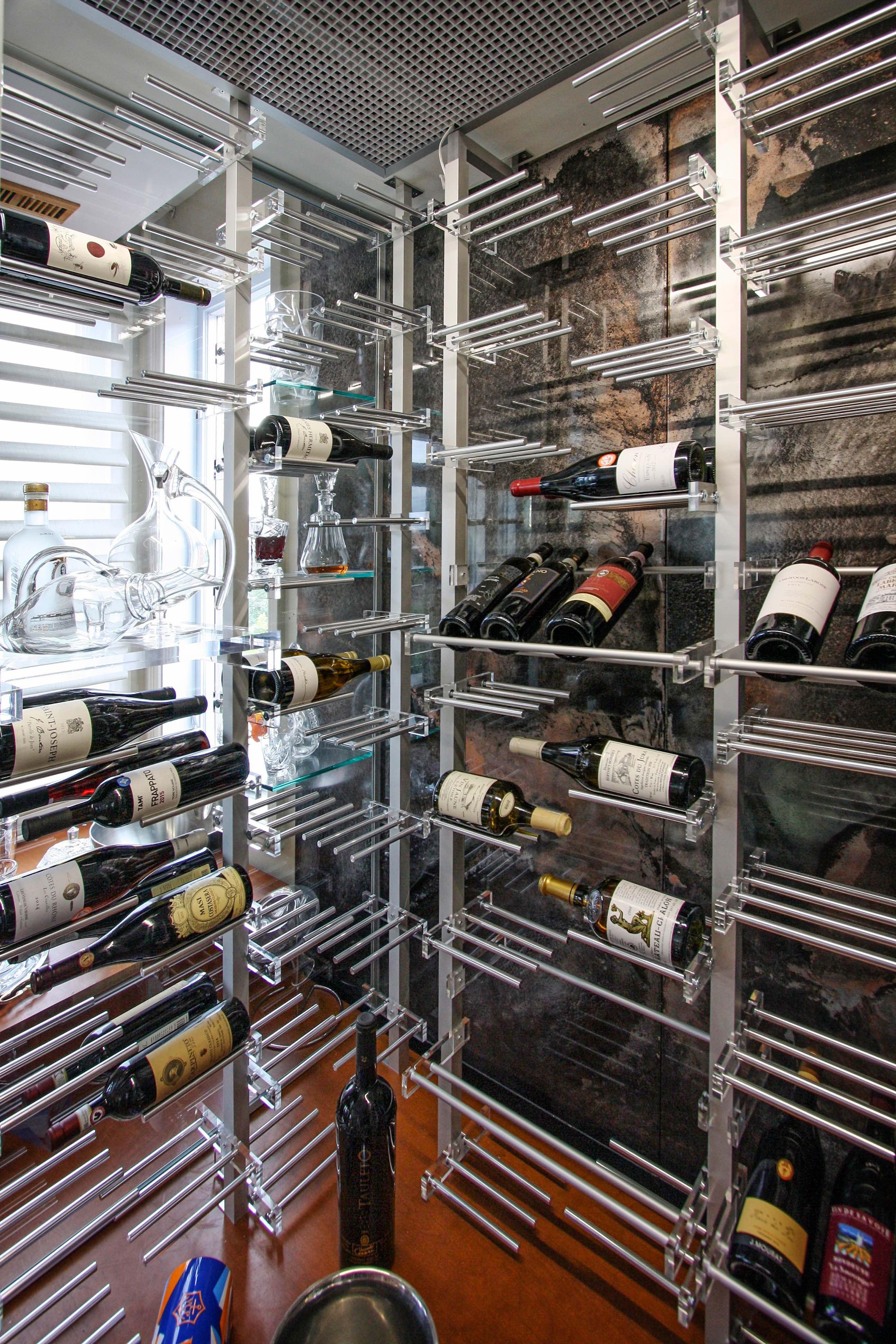 Wine Racks Modular Wood Wine Racking And Wall Wine Racks