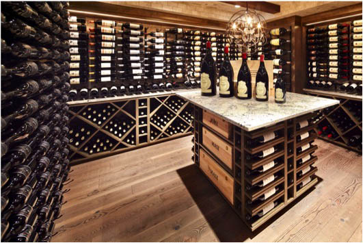 Classic Cellar With Vintage View Wine Racking
