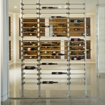 Modern Vancouver Wine Cellar with Contemporary Racks & Pegs