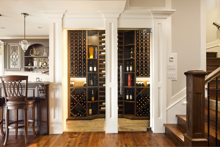 Custom Millwork Wine Cellar in West Vancouver