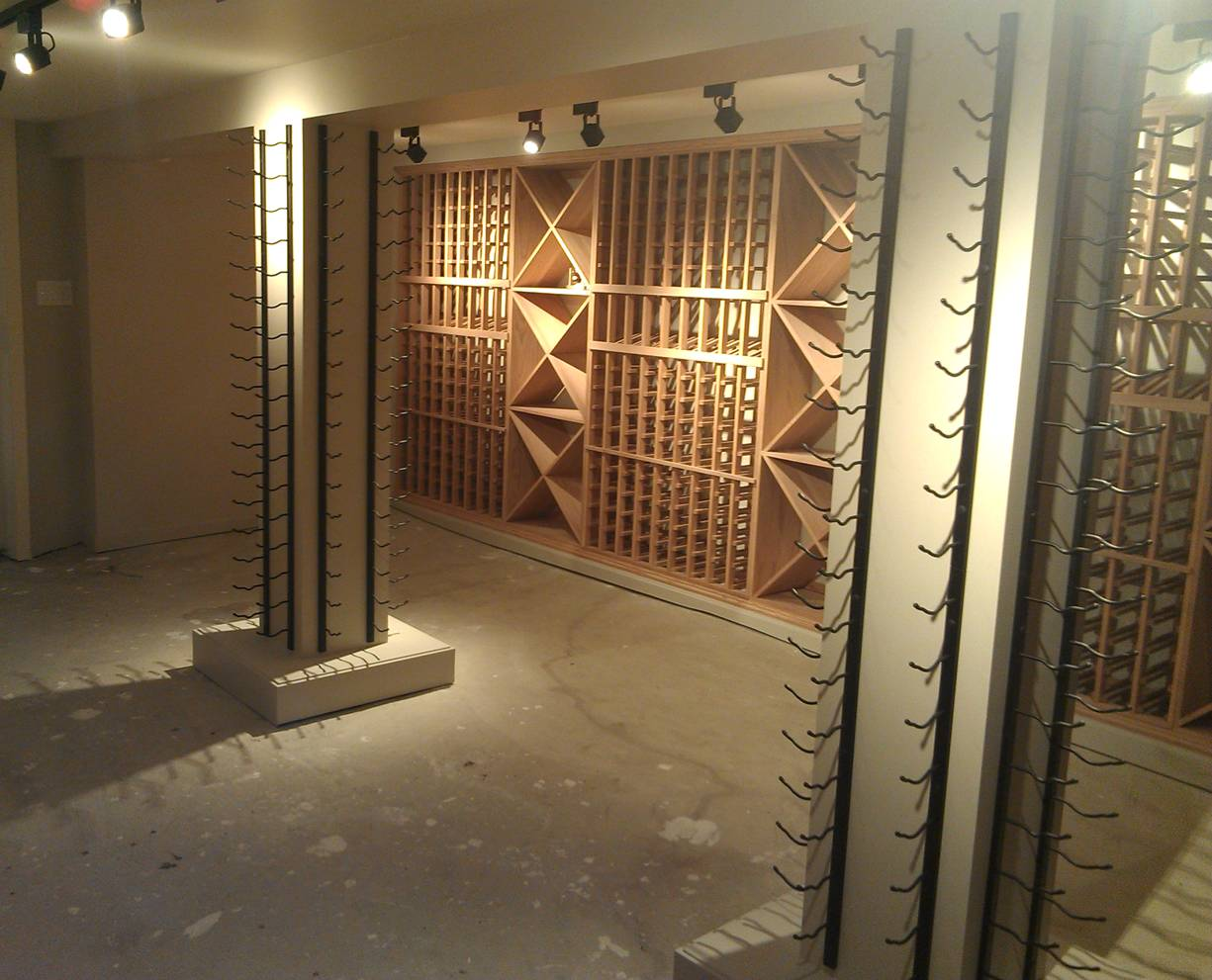 image from wood rustic wine with large of rooms racks unique storage rack
