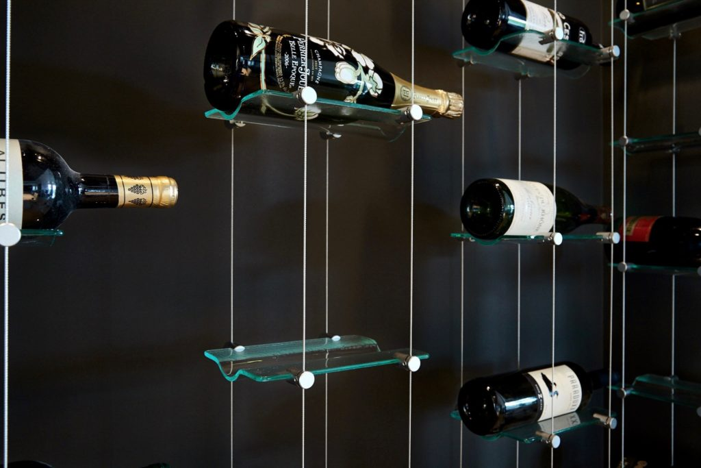 Float Wine Display Amp Racking System With Cables Amp Glass