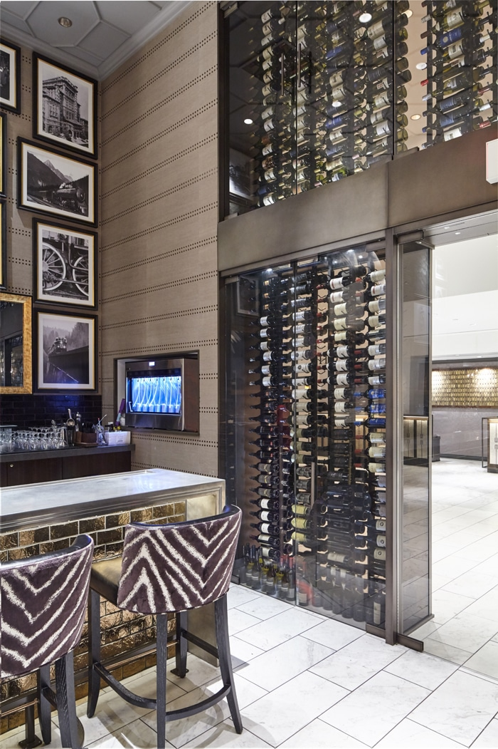 Commercial Custom Wine Cellars Fairmont Hotel Vancouver