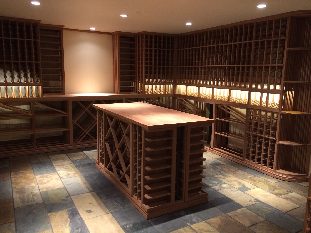 Custom Wood and Metal Wine Cellar by Vancouver Wine Cellar Contractors & Blue Grouse Wine Cellars Photo Gallery Portfolio - Blue Grouse Wine ...