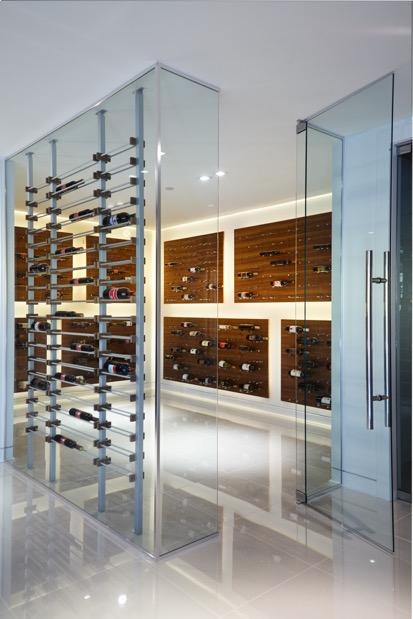 Extraordinary Modern Wine Cellar Racks In Vancouver Home