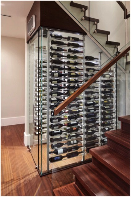 Contemporary Under The Stairs Wine Cellar In West