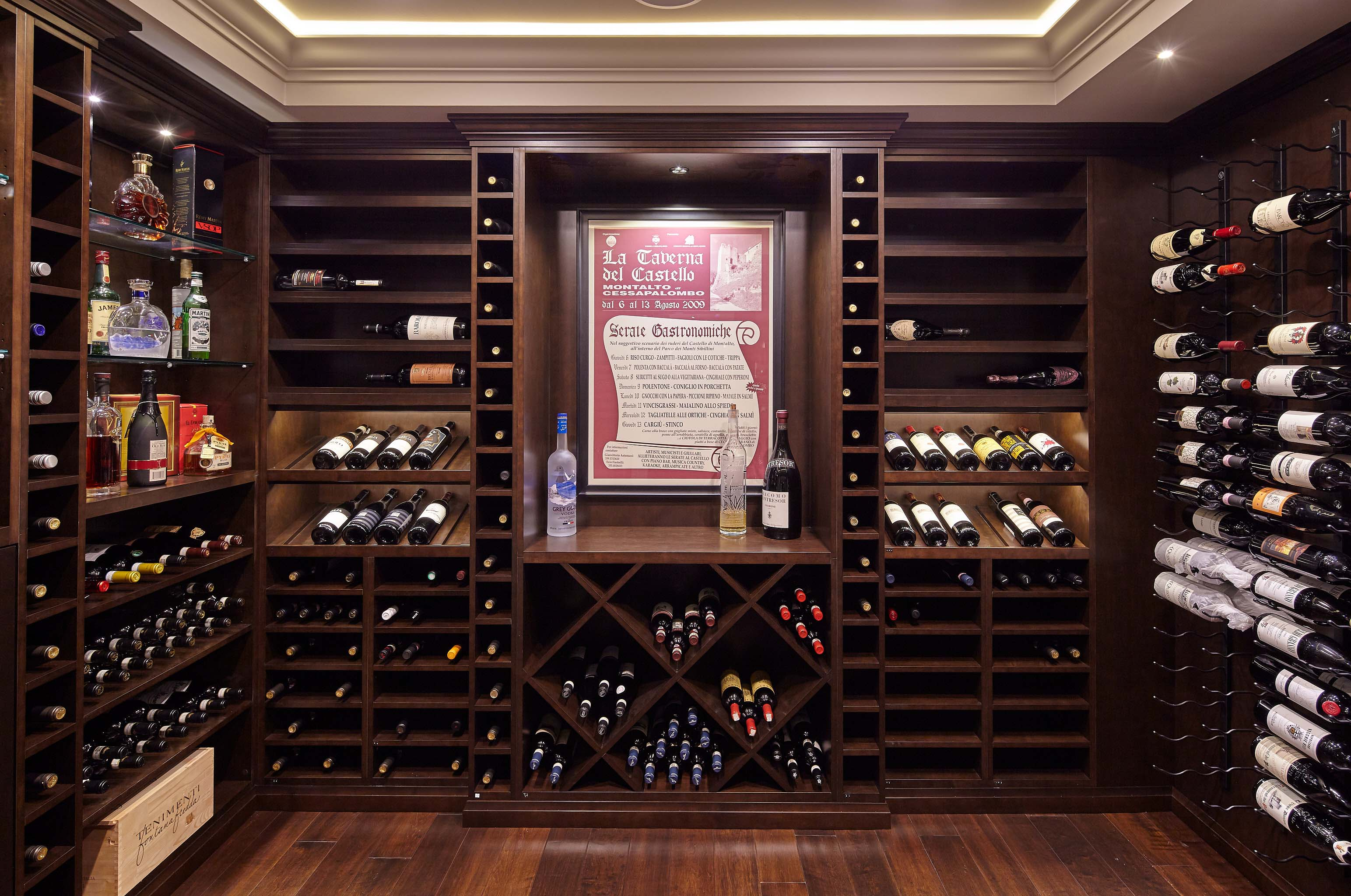 Custom Millwork Wine Cellar in Burnaby & Blue Grouse Wine Cellars Photo Gallery Portfolio - Blue Grouse Wine ...